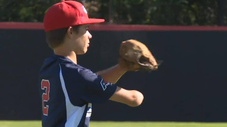 One-armed teen baseball player dreams of playing in the major league