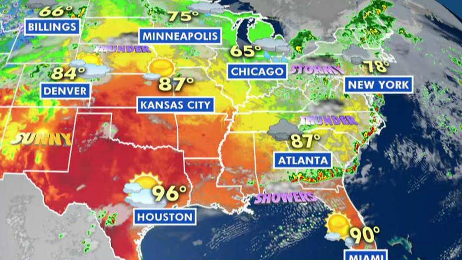 National forecast for Thursday, June 20