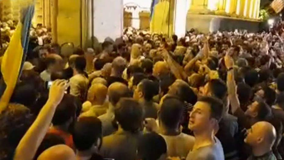 Protesters storm Parliament in Georgia