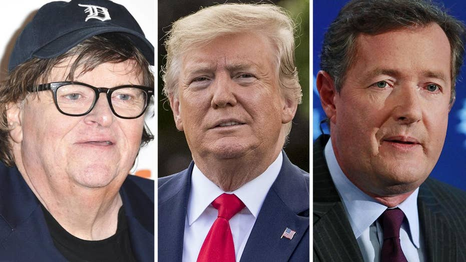 Michael Moore, Piers Morgan say Trump appears to be headed for reelection