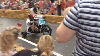 Adult tricycle race brings in crowds of all ages