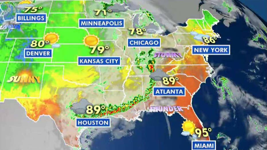 National forecast for Monday, June 24