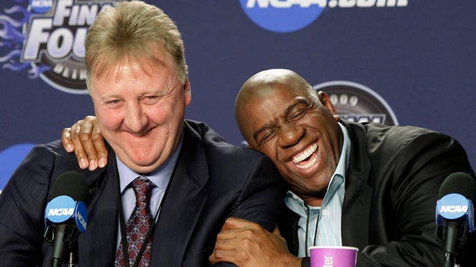 NBA honors basketball legends Magic Johnson and Larry Bird