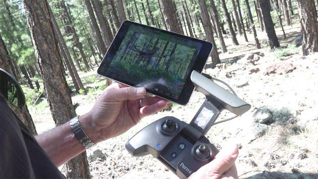 Wildfire crews getting help from drones
