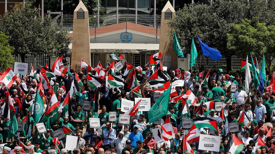 Hundreds of Palestinians protest against US-led economic conference in Bahrain