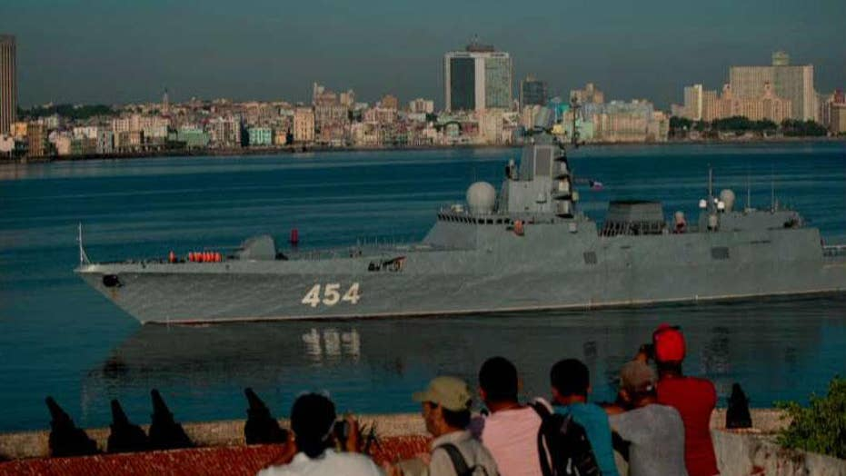 Russian warships arrive in Havana, Cuba in show of force
