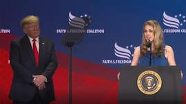 Millennial fighting cancer thanks Trump for 'Right to Try' during faith conference appearance