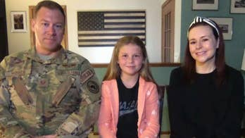 Soldier father surprises daughter at school after 8 months away