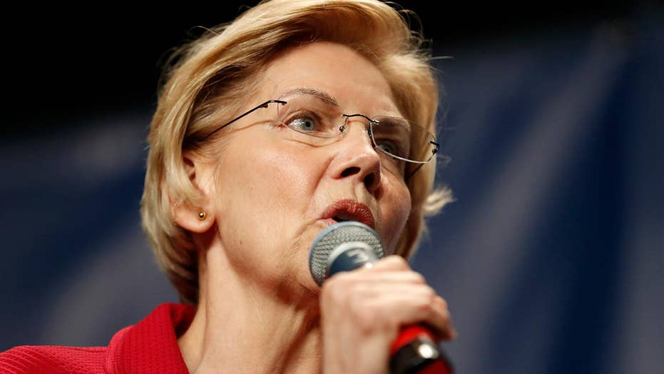 Elizabeth Warren is a top polling claimant on night one of a initial 2020 Democratic debate