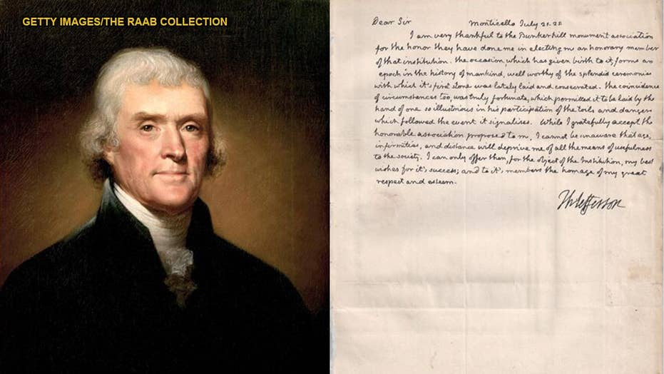 Long-lost Thomas Jefferson letter describes the Revolutionary War's impact on the 'history of mankind'