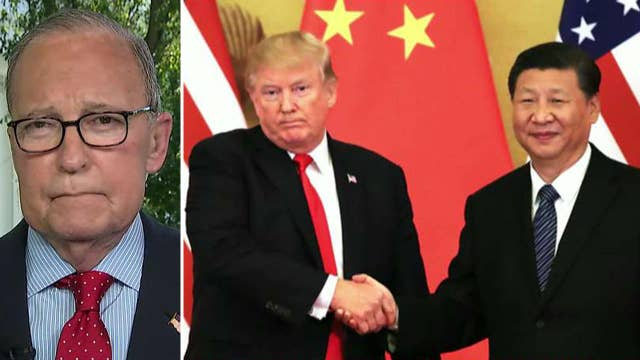 'Fake news': Larry Kudlow dismisses reports of preconditions to Trump-Xi trade meeting thumbnail