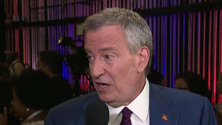 New York City Mayor Bill de Blasio reflects on the first 2020 Democratic presidential debate