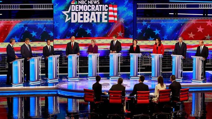 Democratic 2020 hopefuls tout liberal credentials at first presidential debate