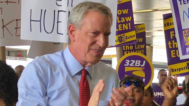 De Blasio apologizing for quoting Che Guevara at Miami airport union rally