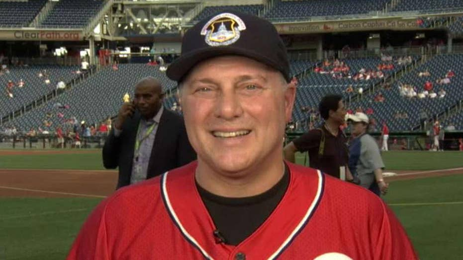 Rep. Scalise gets ready for Congressional Baseball Game on 2nd anniversary of shooting