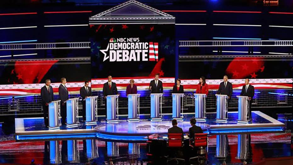 How did voters react to the first night of Democratic presidential debates?