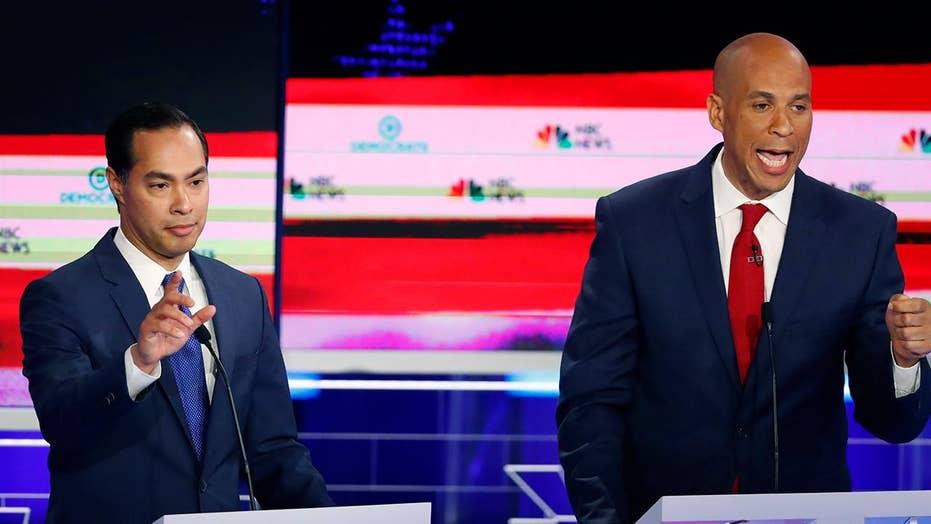 Castro, Booker attempt to steal spotlight from Warren in first debate