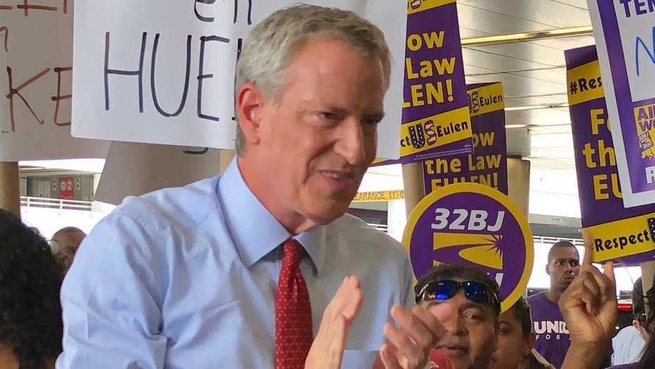 De Blasio apologizing for quoting Che Guevera at Miami airport union rally