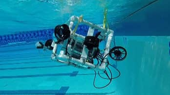 Students test out entry ahead of underwater national robotics competition