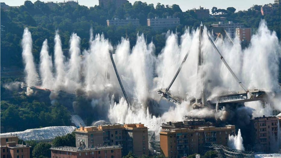 Ruins of bridge in Italy demolished nearly a year after collapse