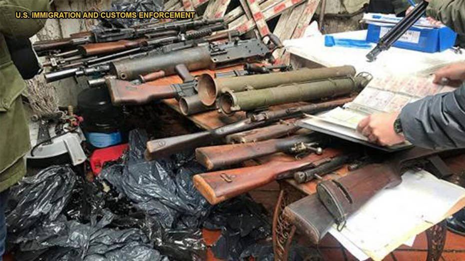 Thousands of firearms and weapons seized in international weapons trafficking crackdown