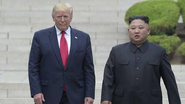 Trump becomes first sitting US president to step foot on North Korean soil