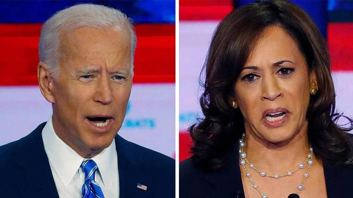 Media hail Harris, bash Biden