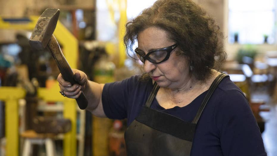 Not just a Revolutionary War profession: How one blacksmith is hitting the iron while it's hot this July 4th