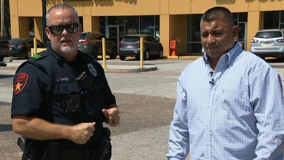 Dallas-area police officer gets an arrest assist from former rugby player