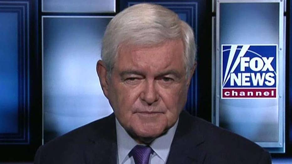 Newt Gingrich says Iran is 'very close to breaking' under
