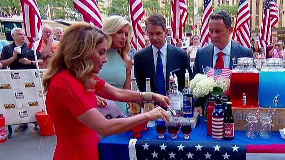 Patriotic cocktails and snacks for Independence Day