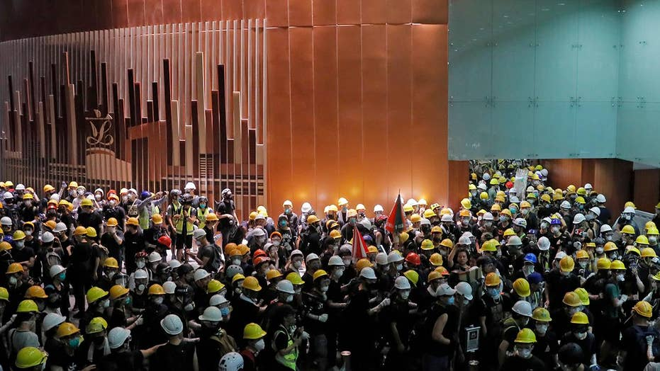 Hong Kong police investigating crime scene after protesters ransack parliament building
