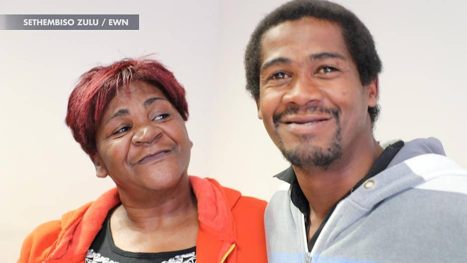 South African mother reunited with son who went missing six years ago and was presumed dead