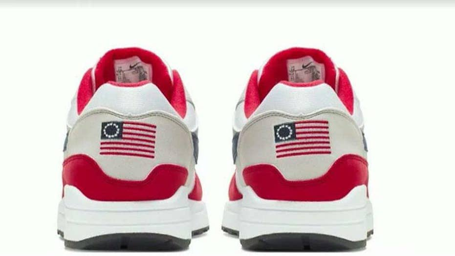 Nike faces backlash for pulling US flag shoes