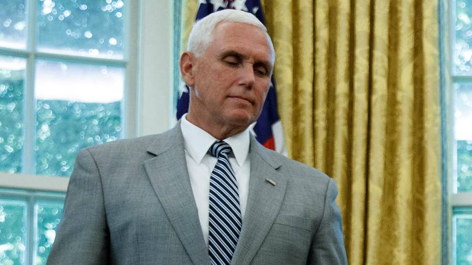 Vice president's staff look to clarify Pence's abrupt return to White House: 'No cause for alarm'