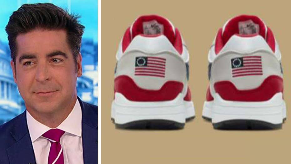 Jesse Watters on Nike's 'borderline sexist' decision to pull US flag sneakers: Betsy Ross is a feminist icon