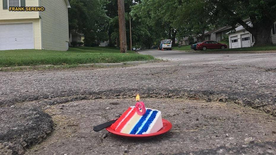 Missouri man celebrates 3rd 'birthday' for pothole