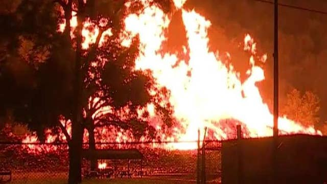 Massive fire breaks out at Jim Beam warehouse in Kentucky