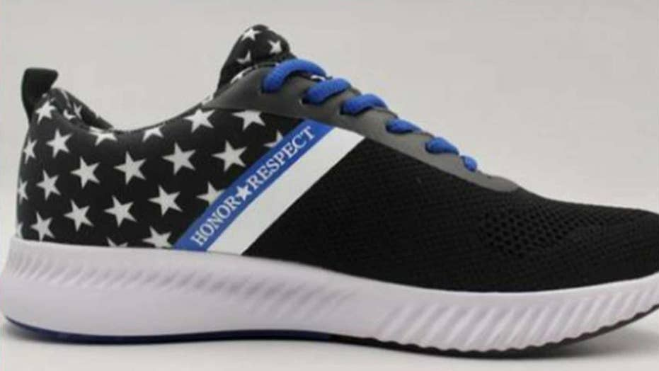 Police officer designs patriotic sneaker, donates proceeds to first responders struggling with PTSD