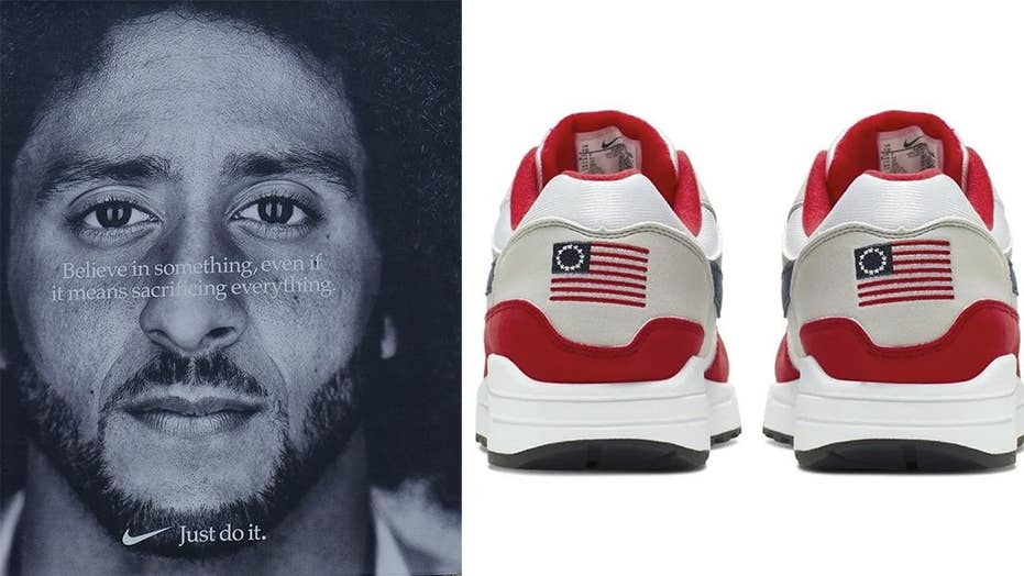 nouveau concept 9cacf fbf03 Trump Jr. blasts Nike with photo of Soviet-style shoe design ...