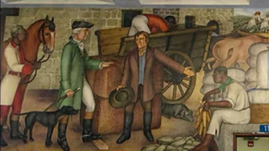 San Francisco set to spend $600,000 to paint over 83-year-old mural of George Washington