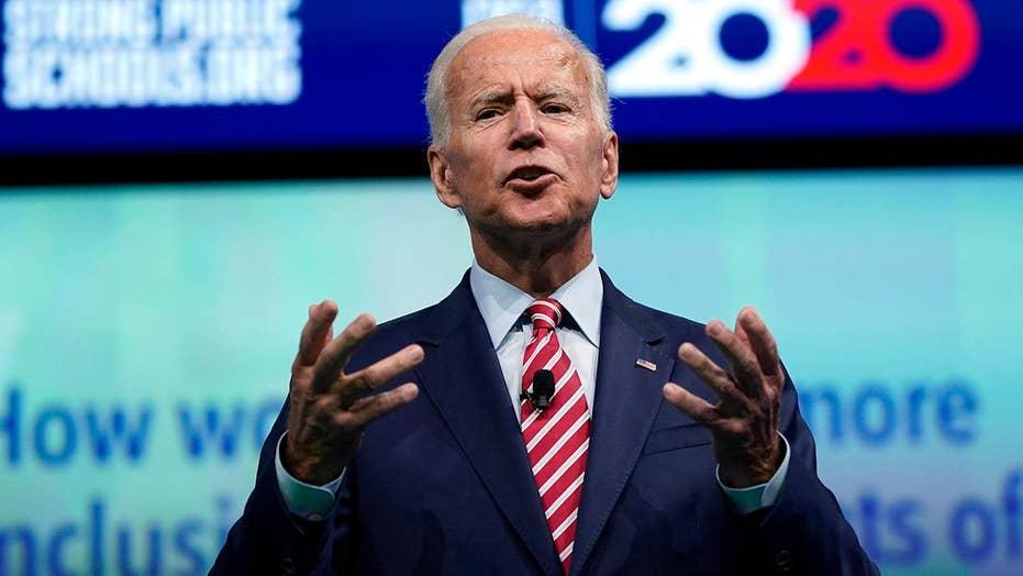 Joe Biden says he's always stood up to bullies like Trump