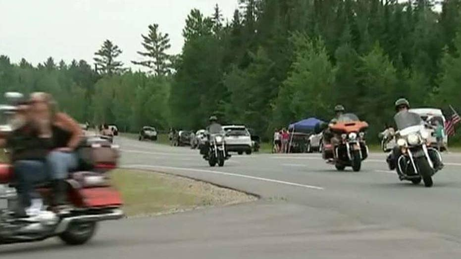Memorial float hold for motorcyclists killed in New Hampshire pile-up final month