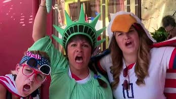 Fans cheer on US women's soccer team in World Cup final