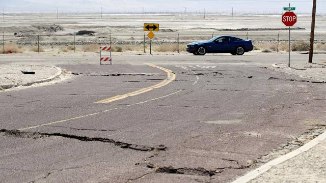 California residents clean up following massive back-to-back earthquakes