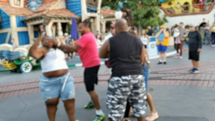 Family in violent Disneyland brawl claimed fight never happened before video went viral, police say