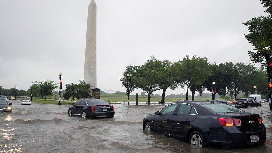 Heavy rains trigger widespread flash flooding in Washington, DC