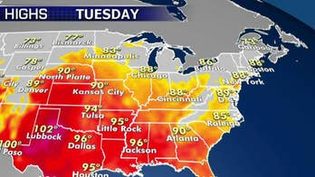 National forecast for Tuesday, July 9