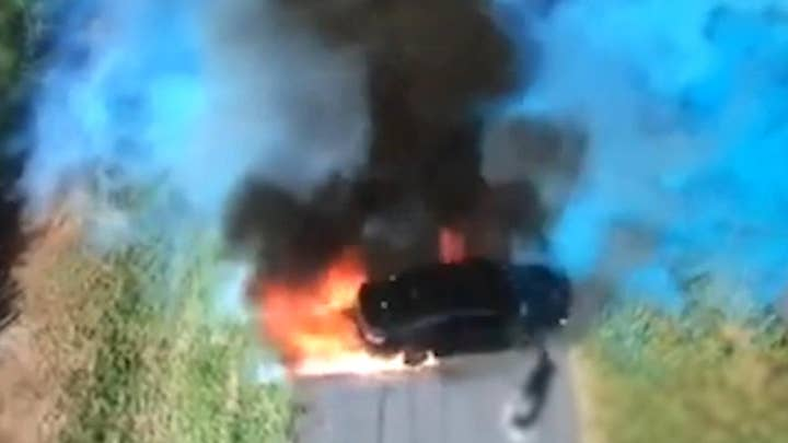 Car catches fire in gender reveal gone wrong