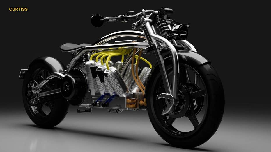 Electric Curtiss motorcycle features wild 'radial V8' design, sky-high price